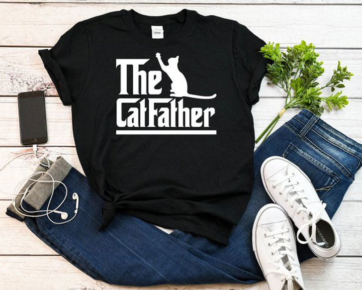 The Cat Father Funny Shirt