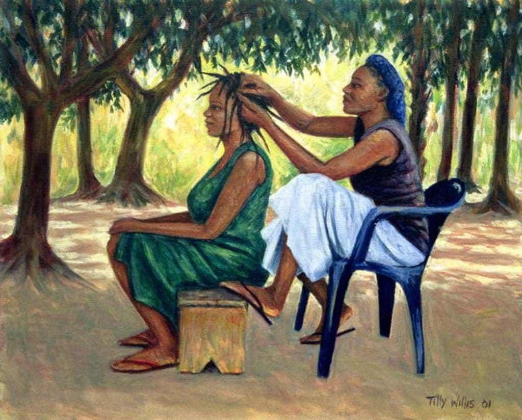 The Hairdresser - by Tilly Willis