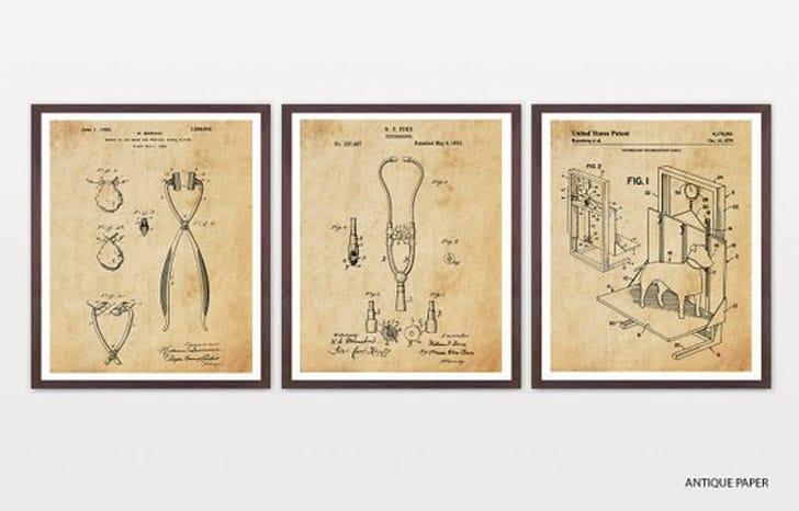Veterinarian Patent Posters