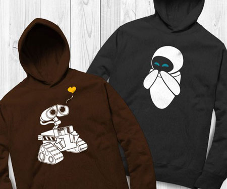 Wall-e & Eve Couples Hoodies