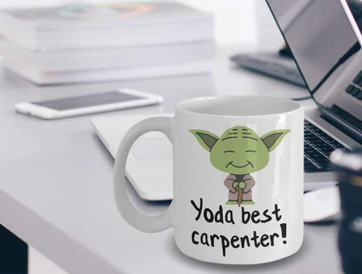Yoda Best Carpenter Coffee Mug
