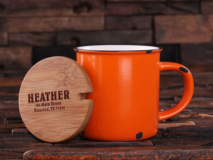 11oz Personalized Enamel Mugs