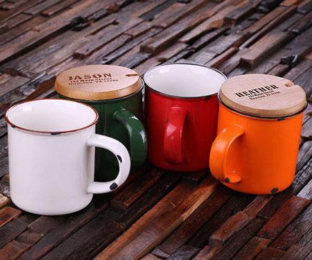 11oz Personalized Enamel Mugs