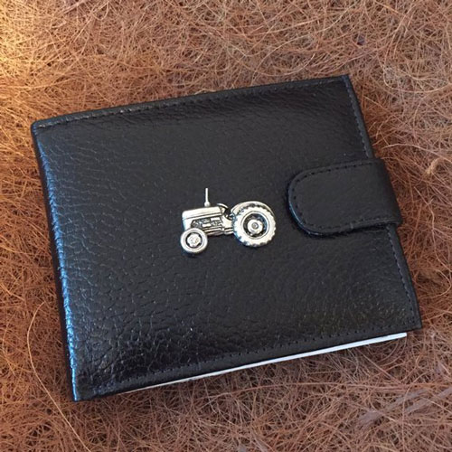 Antique Pewter Tractor Wallet
