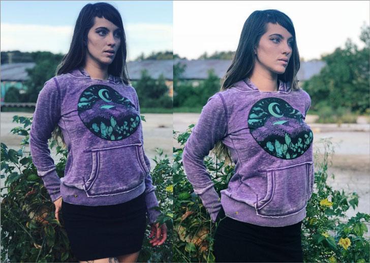 Appalachia Purple Mountain Pullover Hoodie