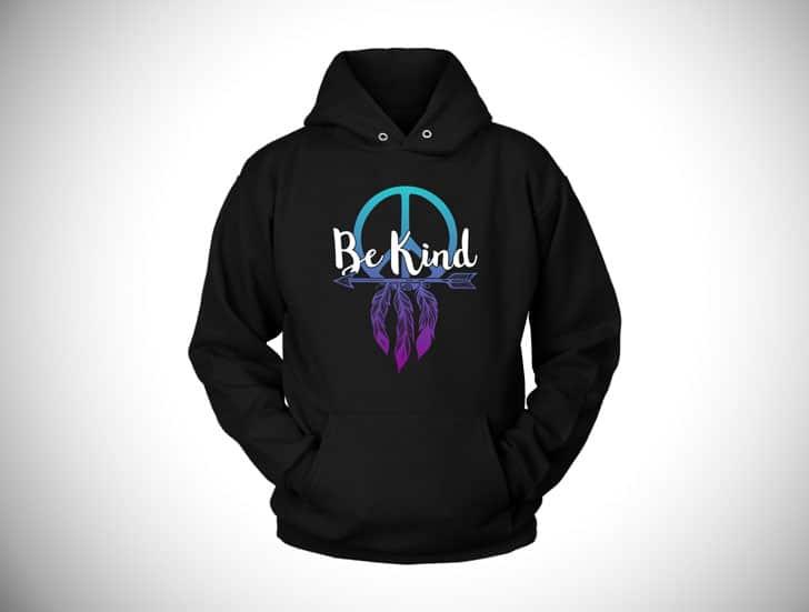 Be Kind Boho Hoodie - Boho hippie hoodies