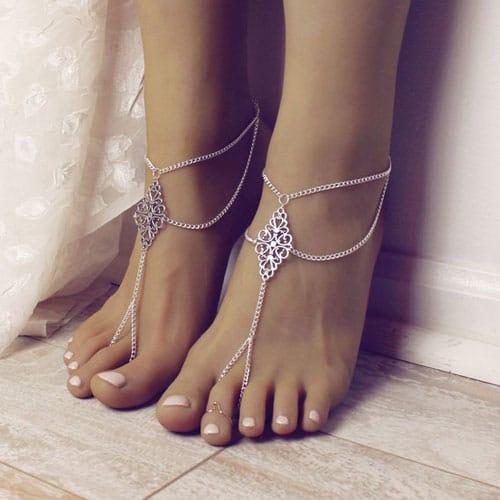 Boho Tribal Barefoot Sandals