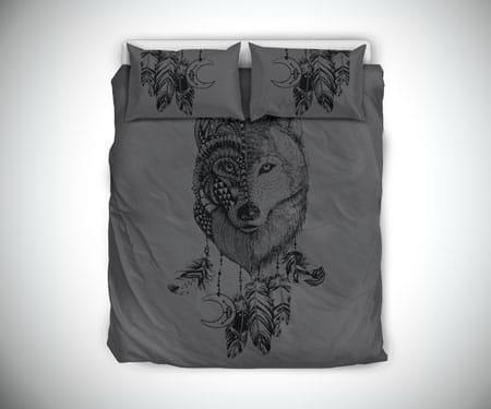 Boho Wolf Bed Set
