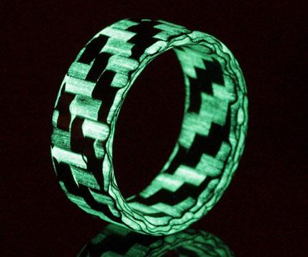 Carbon Fiber Glow Rings