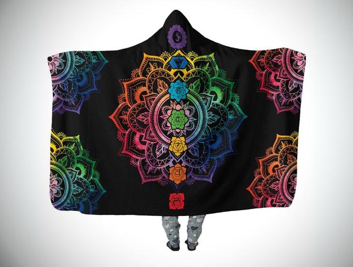 Chakra Mandala Hooded Blanket
