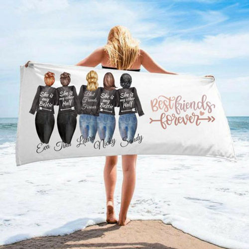 Custom Best Friends Beach Towel