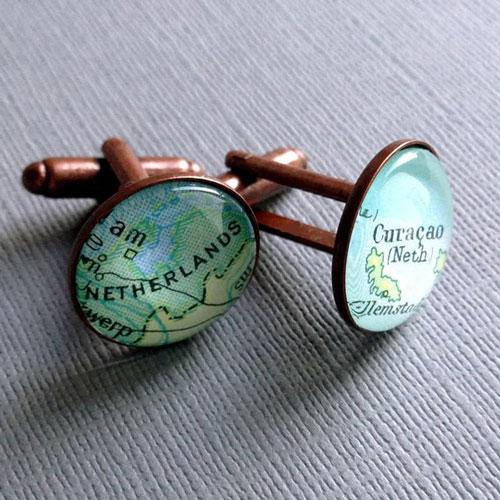 Custom Made Map Cufflinks