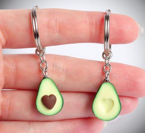 Cute Avocado Friendship Keychains