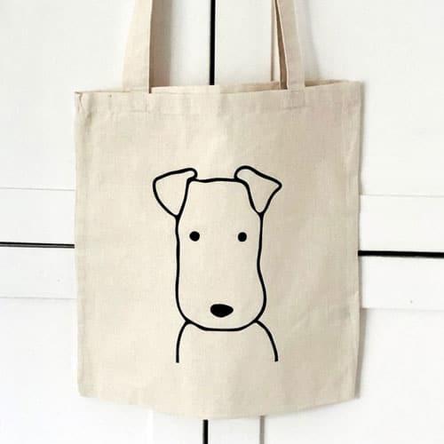 Cute Terrier Tote Bag