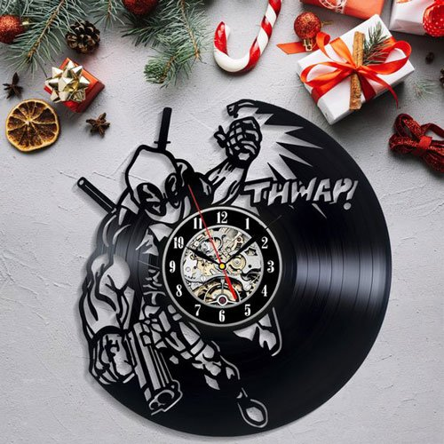 Deadpool Vinyl Wall Clock