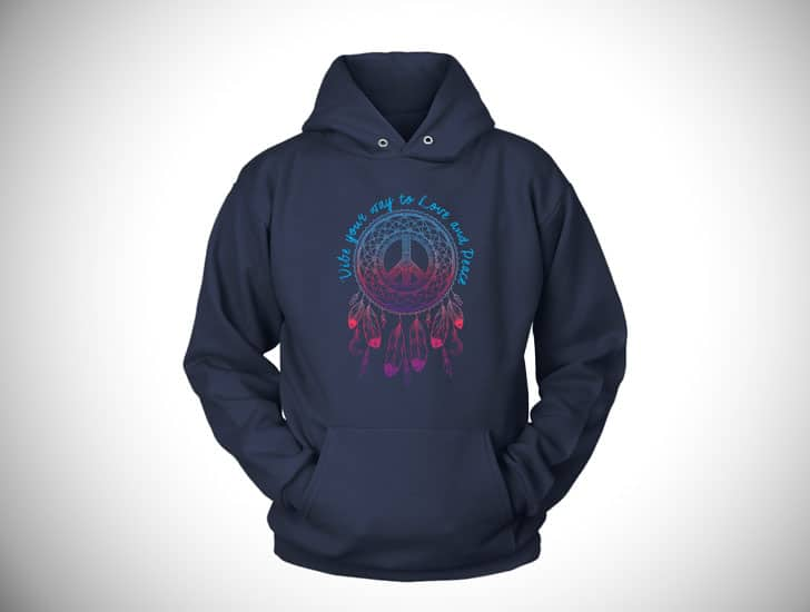Dreamcatcher Peace Vibes - Boho hippie hoodies