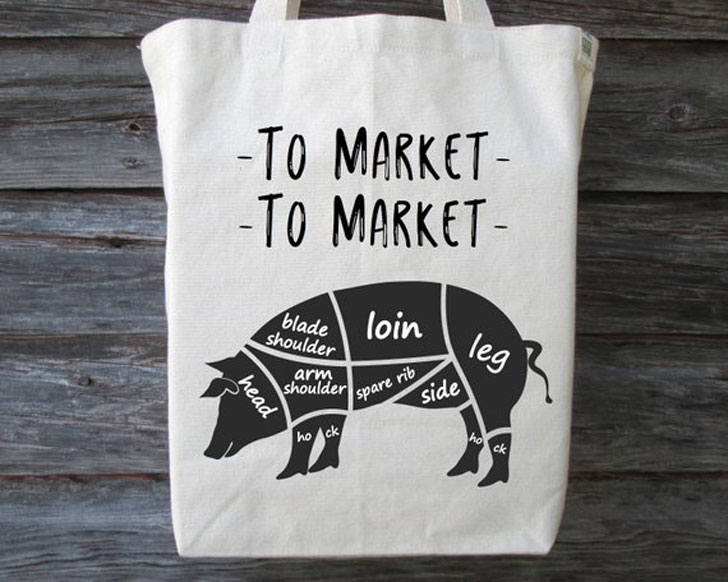 Farmers Market Tote bag gift
