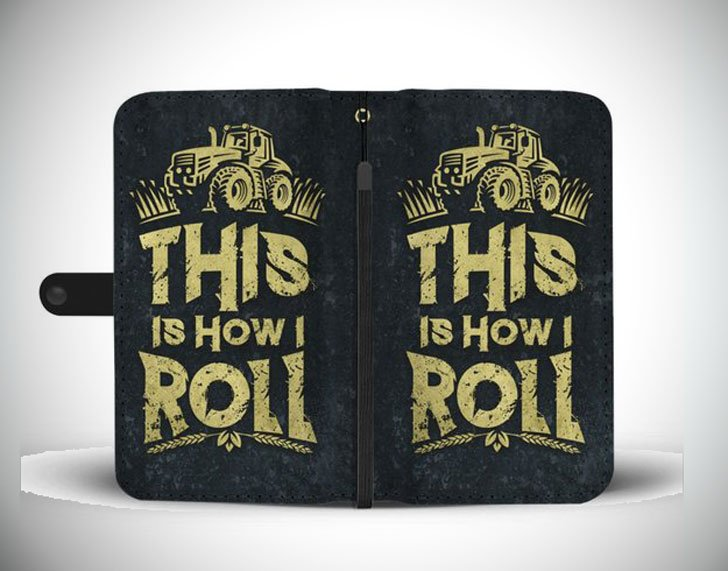 Funny Farm Phone Wallet Case - This is how I roll