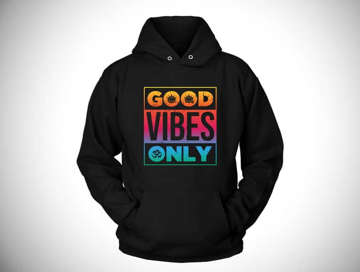 Good Vibes Only - Boho hippie hoodies
