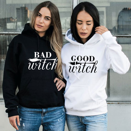 Good Witch Bad Witch BFF Hoodies