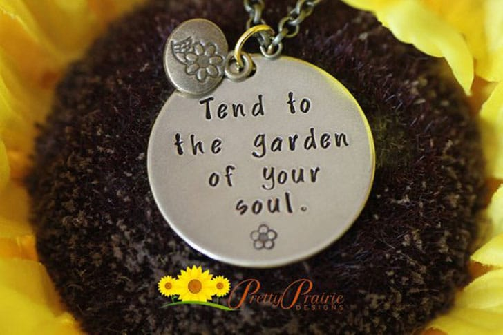 Inspirational - Tend to the Garden of Your Sole Necklace