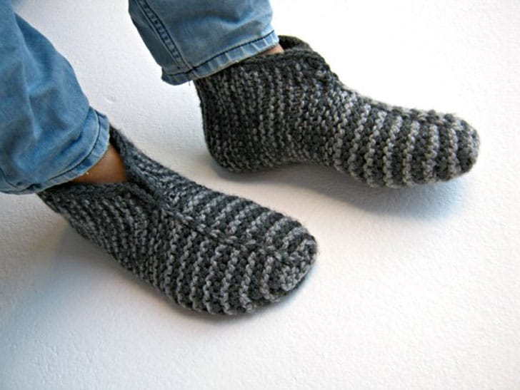 Knitted Sock Slippers