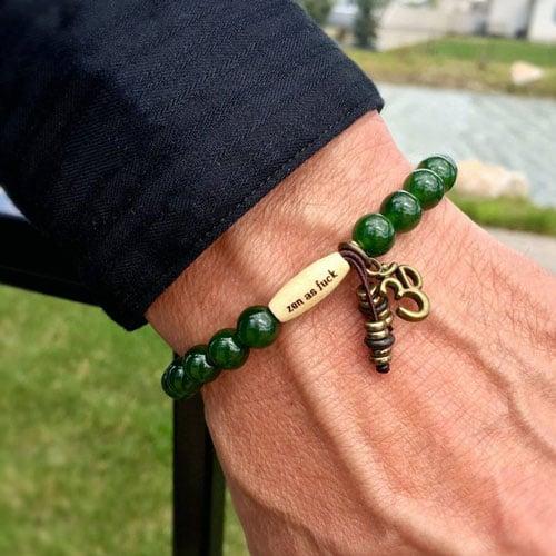 Mens Zen AF Jade Beaded Bracelet