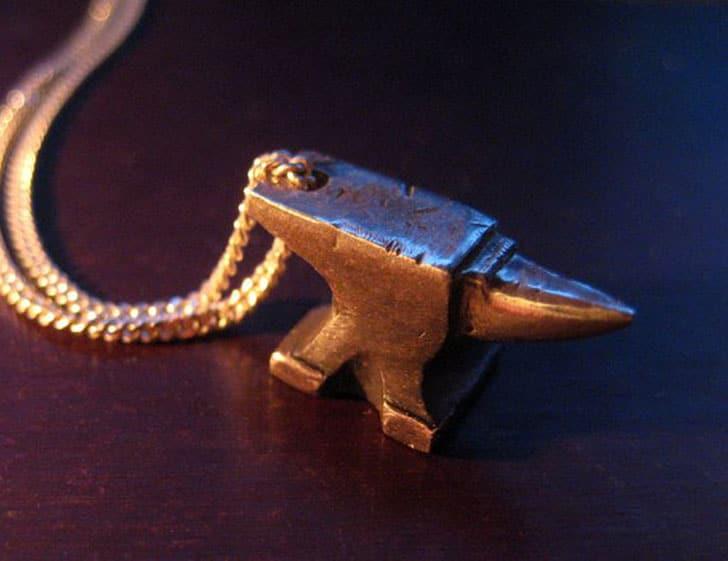 Mini Anvil in Sterling Silver