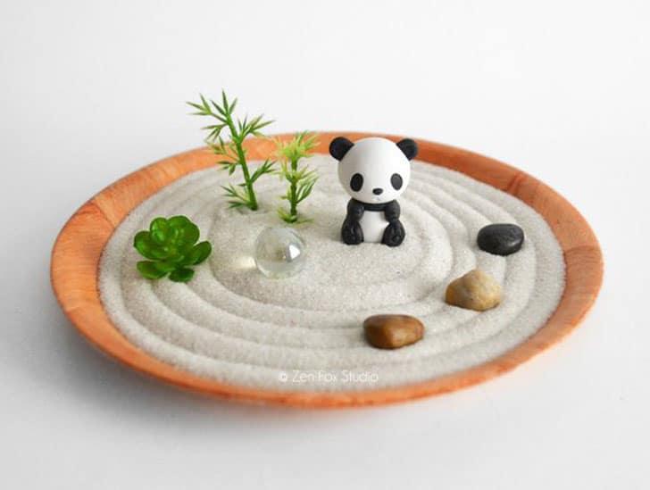 Panda Mini Zen Garden