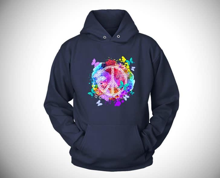 peace & butterflies hoodie - hippie hoodies