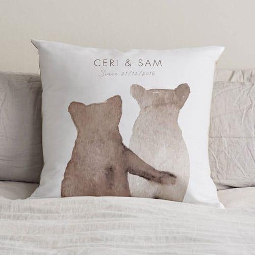 Personalised Bear Love Cushion