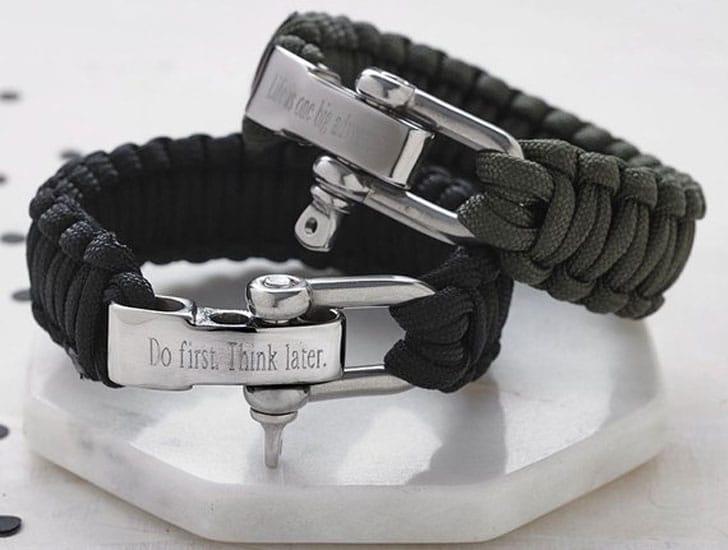 Personalised Paracord Survival Bracelets