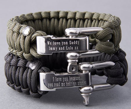 Personalised Paracord Survival Bracelets