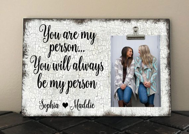 Personalized Besties, You Are My Person Photo Frame Gift