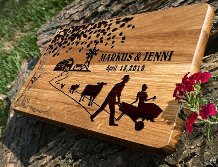Personalized Farmer Cutting Board