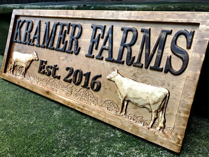 Personalized Farmhouse Sign