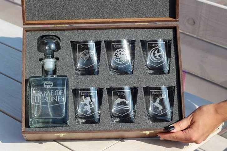 Personalized Game of Thrones Glass Decanter