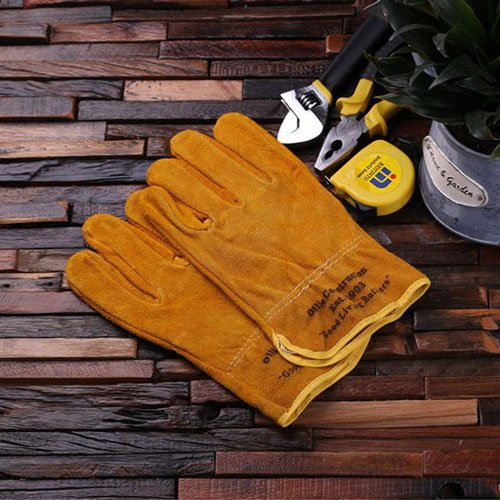 Personalized Leather Suede Gardening or Construction Worker Gloves