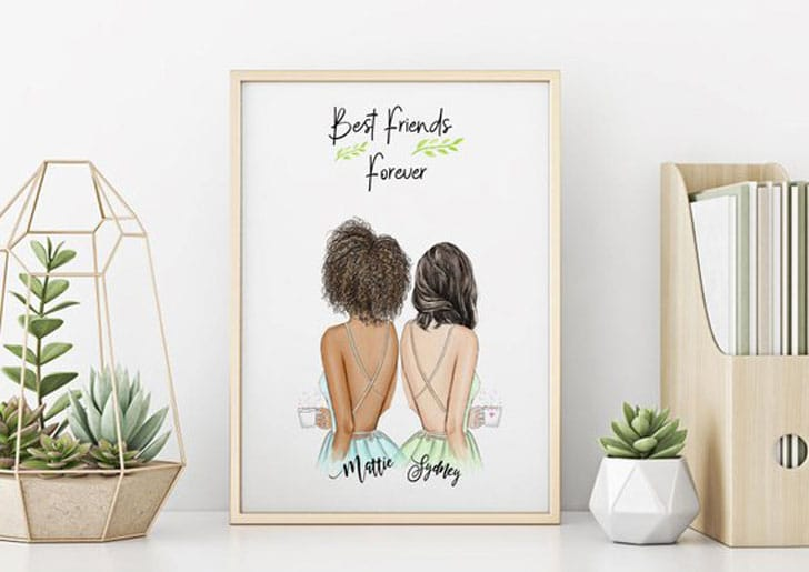 Personalized Unique Best Friends Forever Wall Art