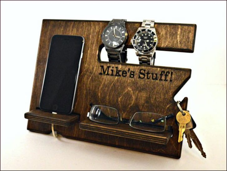 Personalized Wooden Docking Station
