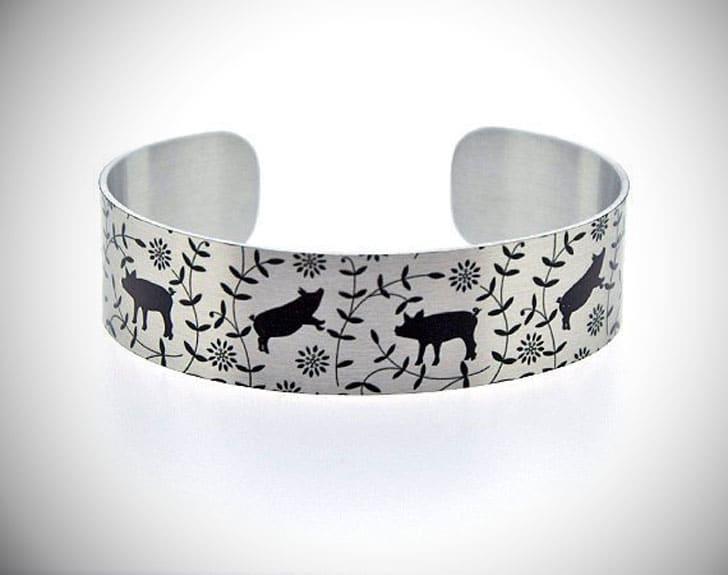 Pig Cuff Bracelet