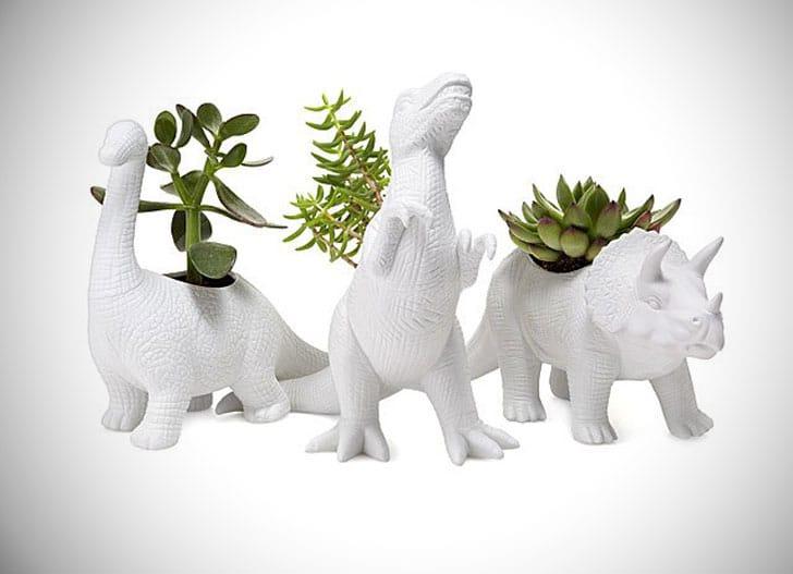 Porcelain Dinosaur Planters