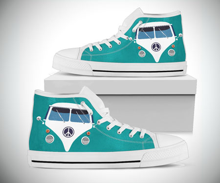 Retro Hippie Van High Tops