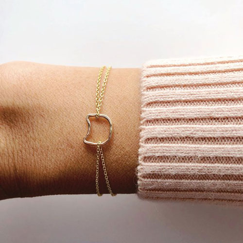 Simple Dainty Cat Bracelet
