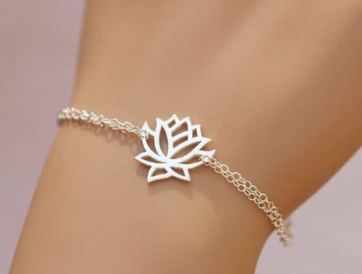 Sterling Silver Lotus Bracelet