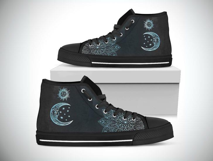 Sun & Moon Boho Boots - High top shoes
