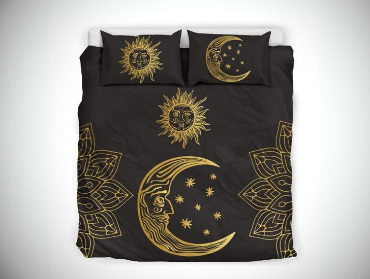 Sun & Moon Mandala - Gold