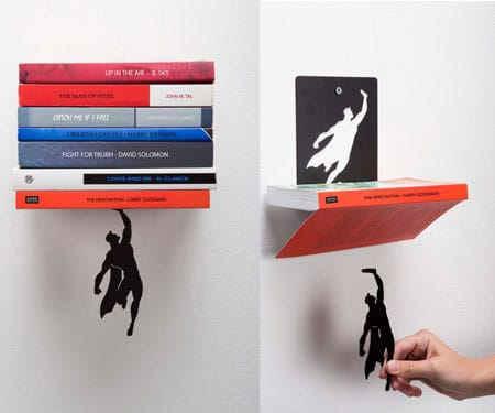 Superhero Floating Bookshelf