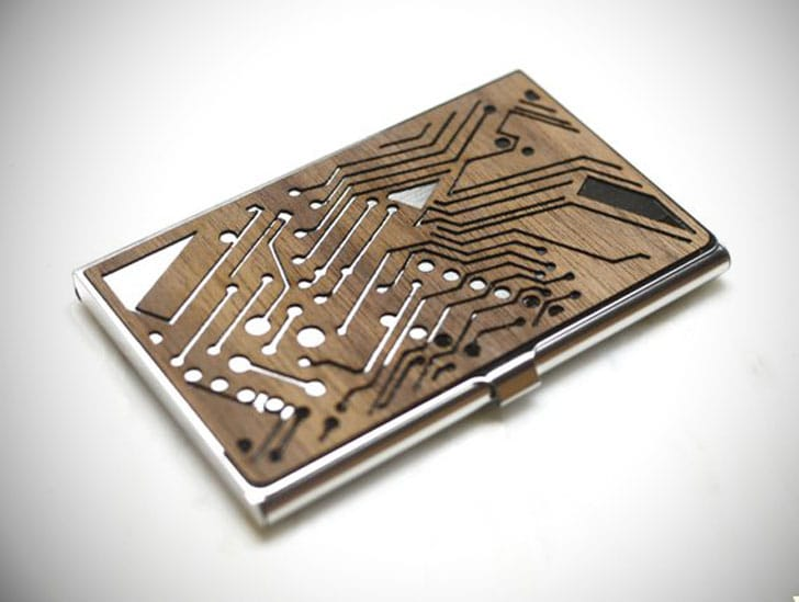 Tech Gift Men's Business Card Holder