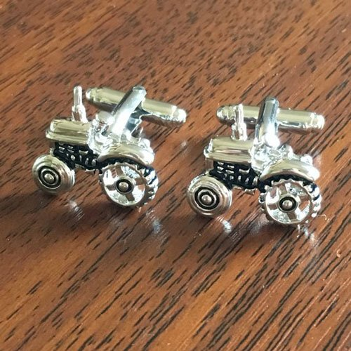Silver Tractor Cuff links